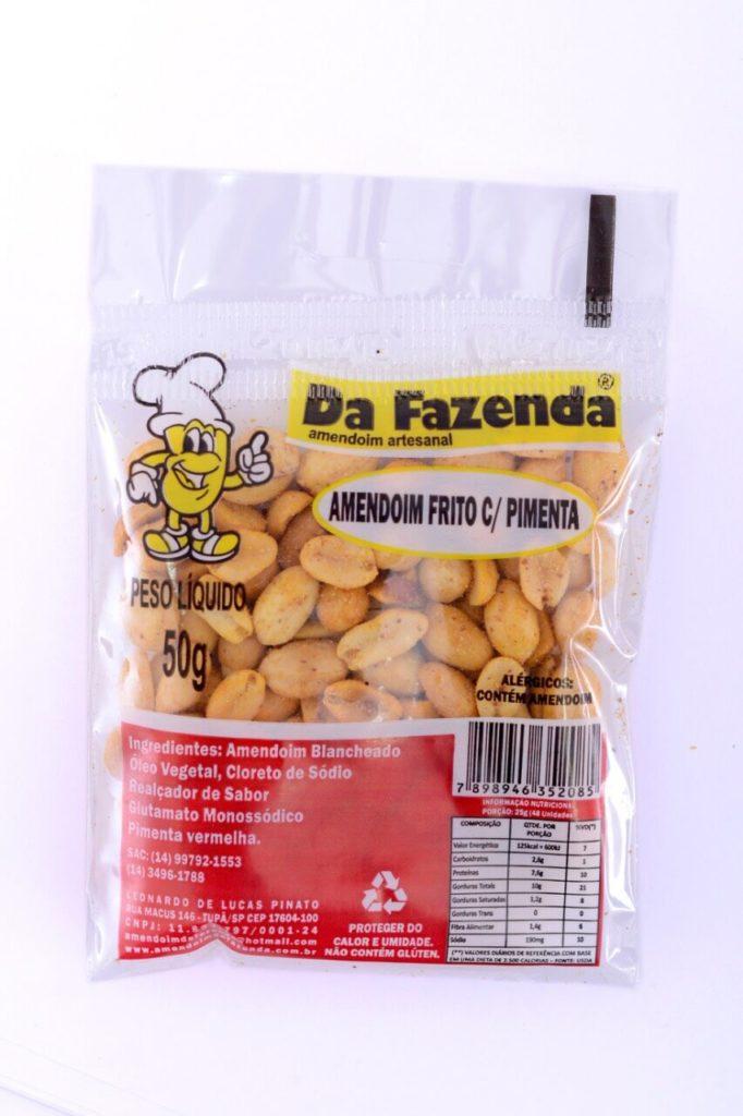 Amendoim frito com pimenta